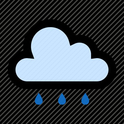cloud, cloudy, drizzle, rain, raining icon