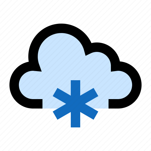 cloud, cloudy, cold, frosty, icy, snow, snowing icon
