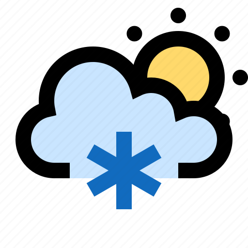 cold, day, frosty, icy, snow, snowing, sunny icon