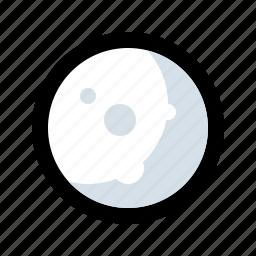 full moon, midnight, moon, moon light, night icon