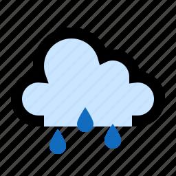 cloud, cloudy, forecast, rain, raining icon