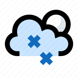 blizzard, cloud, moon, night, snow, snowing, snowstorm icon