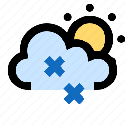 blizzard, partly cloudy, snow, snowing, snowstorm, sunny icon