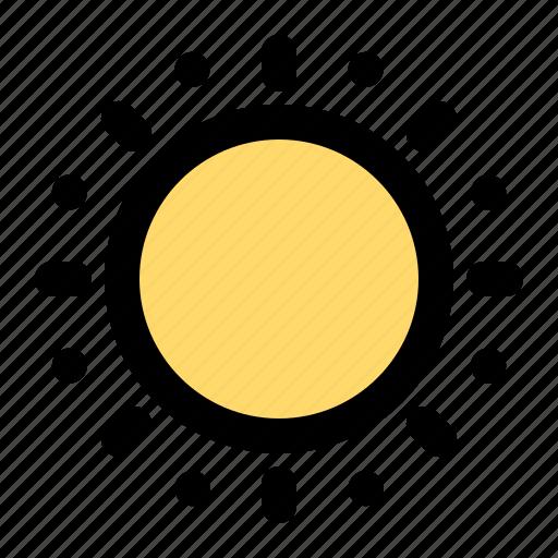 brightness, day, forecast, sun, sunny, weather icon