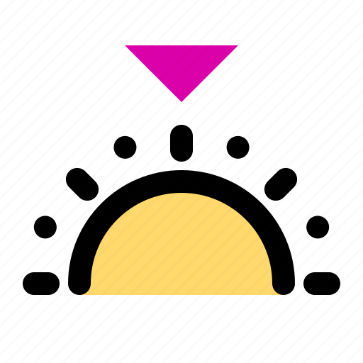 evening, forecast, landscape, night, sun, sunset, weather icon