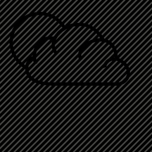 cloud, meteorology, sky, sun, weather icon