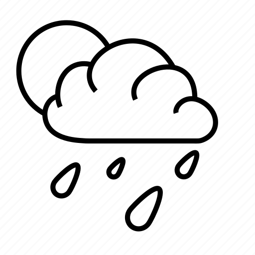 meteorology, rain, sky, sun, weather icon