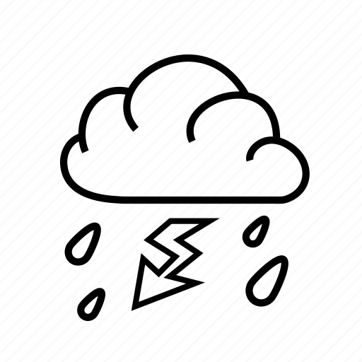 lightning, meteorology, rain, sky, weather icon
