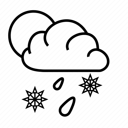 meteorology, rain, sky, snow, weather icon