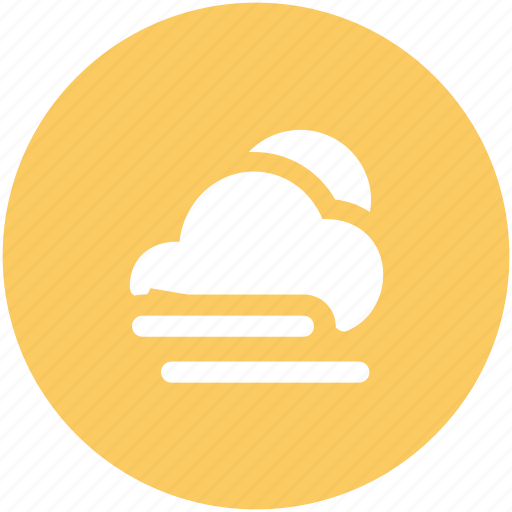 cloud, cloudy, forecast, lightning, rate, sunny icon