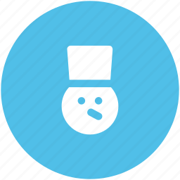 jester, joker face, snow, snow man, snowman face icon