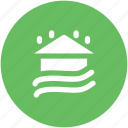 building, flood, forecast, house, house flood, raining, water icon