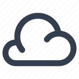 cloud, computing, forecast, line, meteorology, weather, wireless icon