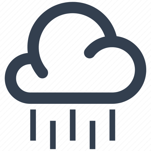 cloud, forecast, humidity, meteorology, rain, raining, water, weather icon