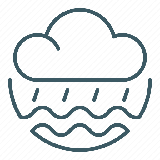 cloud, flood, forecast, natural distaster, rain, water, weather icon