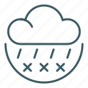 cloud, forecast, freezing, rain, sleet, weather icon