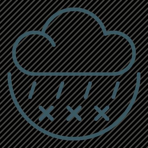 Cloud, forecast, freezing, rain, sleet, weather icon - Download on Iconfinder