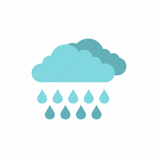 climate, clouds, drop, meteorology, rain, sky, weather icon
