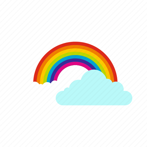 clouds, colorful, nature, rainbow, sky, summer, weather icon