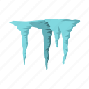 cold, ice, icicles, nature, sharp, snow, winter icon