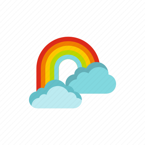 cloud, concept, nature, rainbow, sky, summer, weather icon