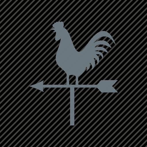 arrow, cock, direction, vane, weather, weathercock, wind icon