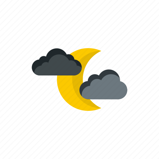 cloud, decoration, forecast, meteorology, moon, sky, weather icon