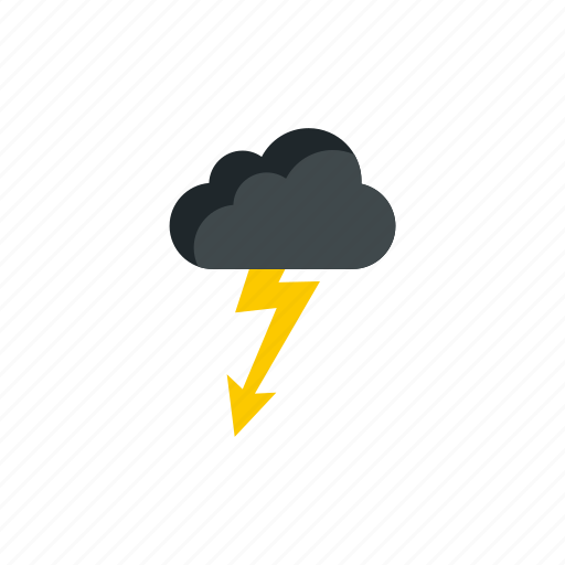 cloud, cloudy, lightning, rain, storm, thunder, weather icon