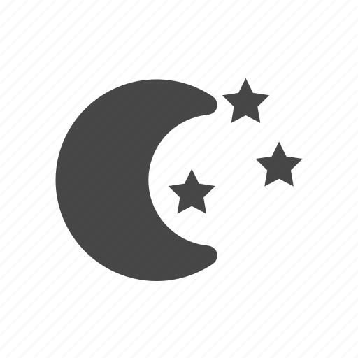 moon, new moon, night, star, weather icon