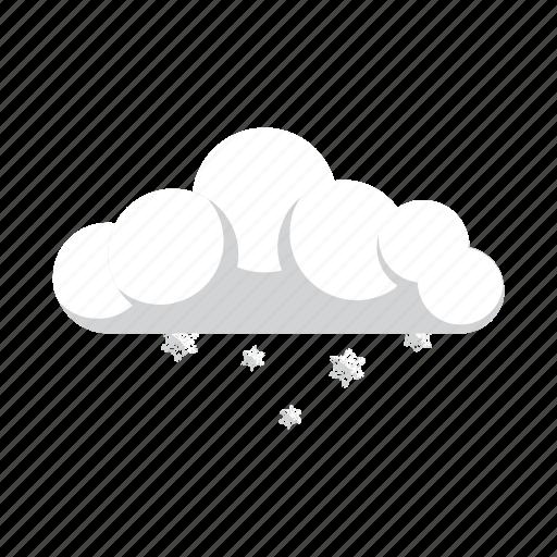 little, snow, snowflake, weather icon