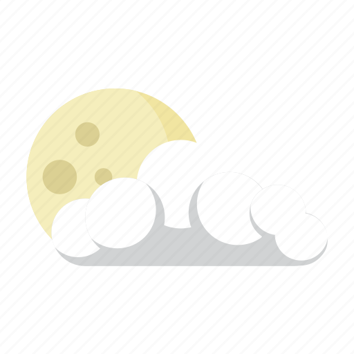 cloud, forecast, moon, nigt, partly icon