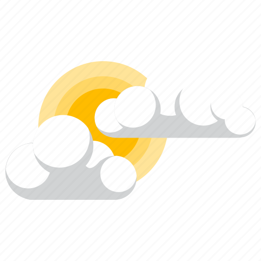 forecast, partly, sunny, weather icon