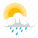 cloudy, forecast, rain, suny icon