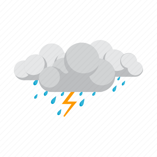 cloud, cloudy, rain, storm, thunderstorm icon