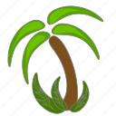 island, palm, trees icon