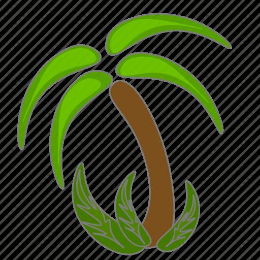 island, palm, trees icon icon
