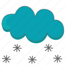 cloud, clouds, cloudy, cold, freeze, snow, weather icon icon