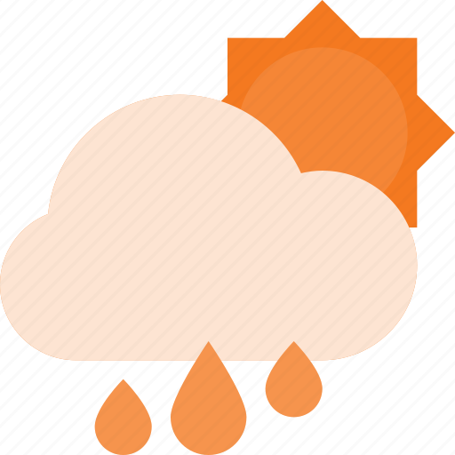 cloud, day, forcast, rain, weather icon