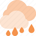 cloud, forcast, rain, rainy, weather icon