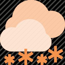 cloud, forcast, rain, snow, weather icon