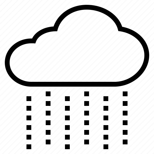 cloud, drizzle, rain, raindrop, rainfall, rainy, wet icon