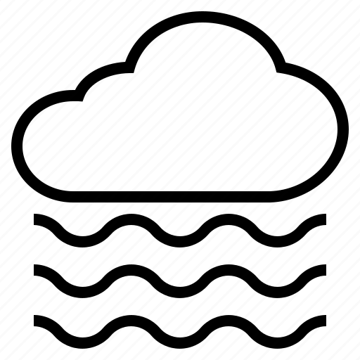cloud, cool, fog, foggy, mist, smog, wave icon