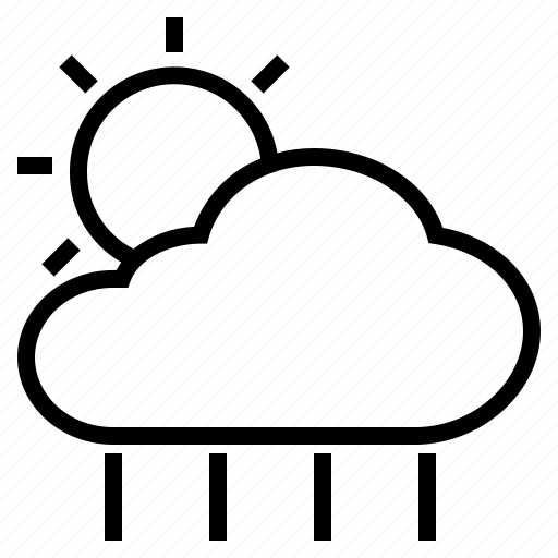 climate, cloud, forecast, prediction, rain, sun, weather icon