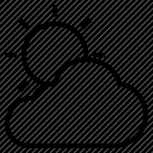 cloud, cool, overcast, overlay, sun, sunny icon