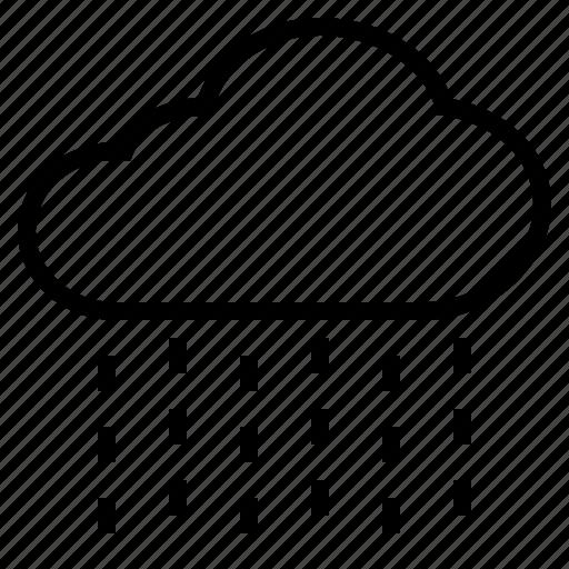 cloud, rain, raindrop, rainfall, rainy, shower, wet icon