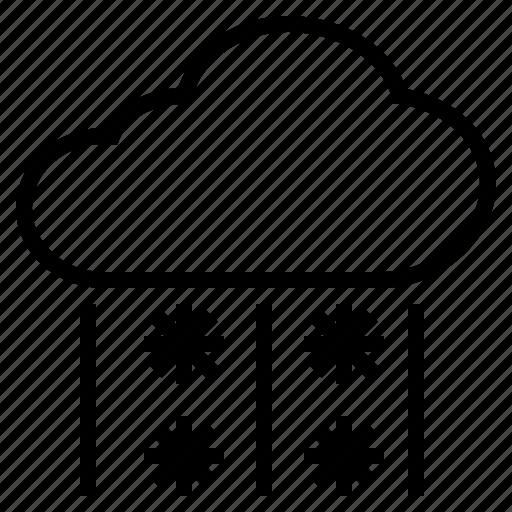 cloud, cold, freezing, hail, ice, rain, sleet, snow icon