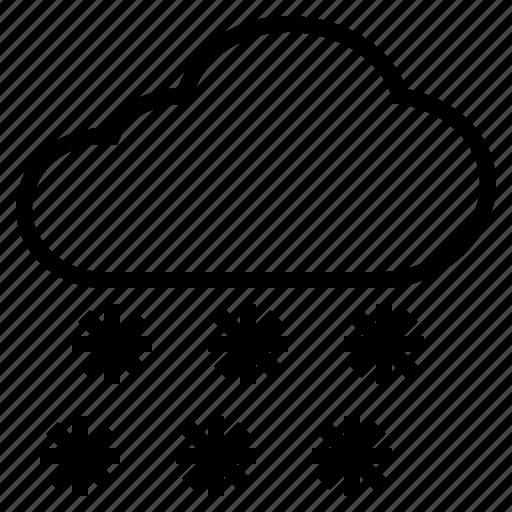 cloud, cold, powder, snow, snowfall, snowflake icon