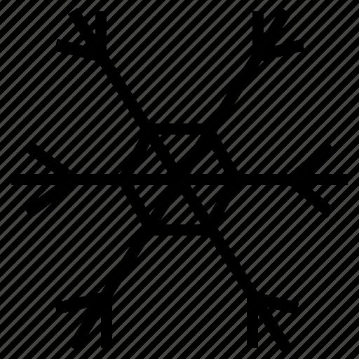 freeze, freezing, hexagon, snow, snowfall, snowflake, winter icon