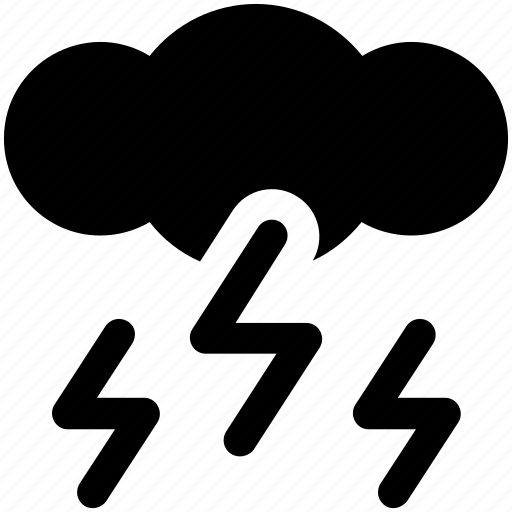 cloud, lighting, thunder, weather icon icon