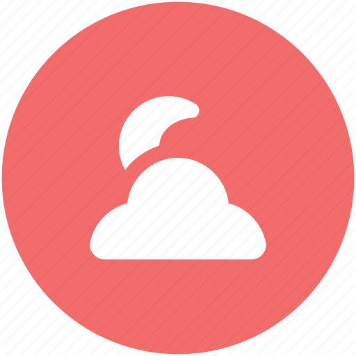 cloud, moon, night, night moon, night weather, weather icon